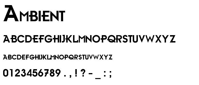 Ambient font