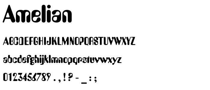 Amelian font