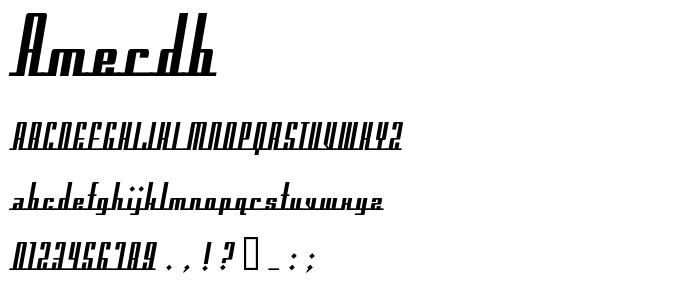 Amerdb font