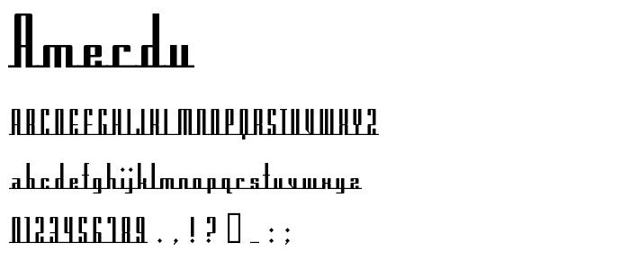 Amerdu font