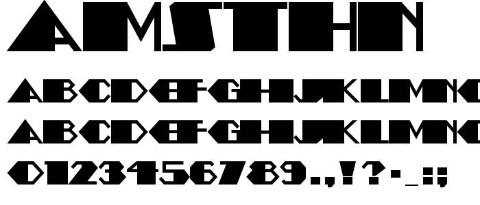 Amsthn font