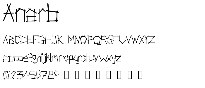 Anarb font