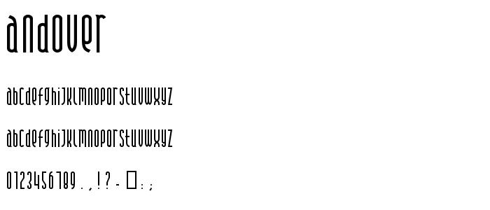 Andover font