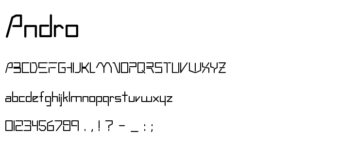 Andro font