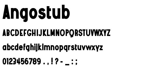 Angostub font