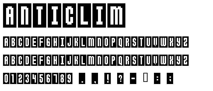 Anticlim font