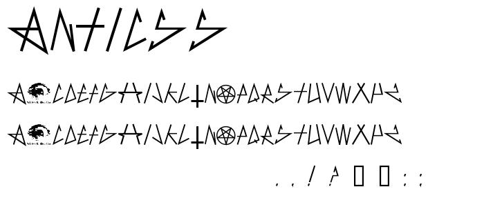 Anticss font