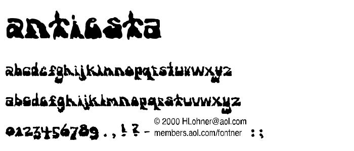 Antiesta font