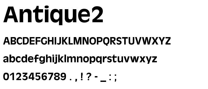 Antique2 font