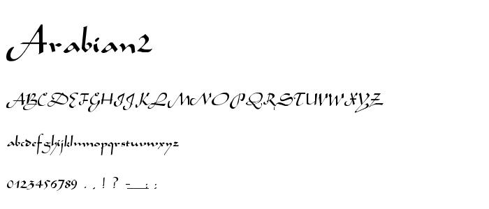 Arabian2 font