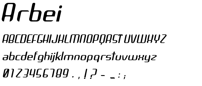 Arbei font