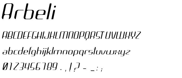 Arbeli font