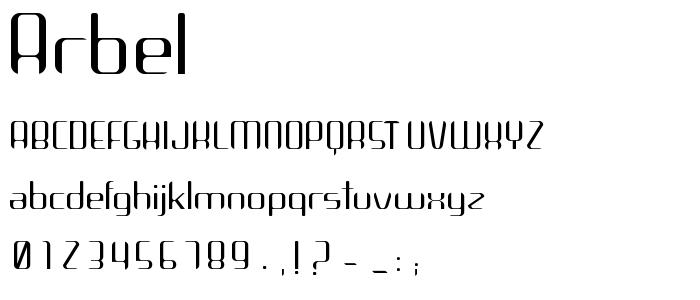 Arbel font