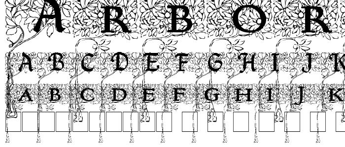 Arborial font