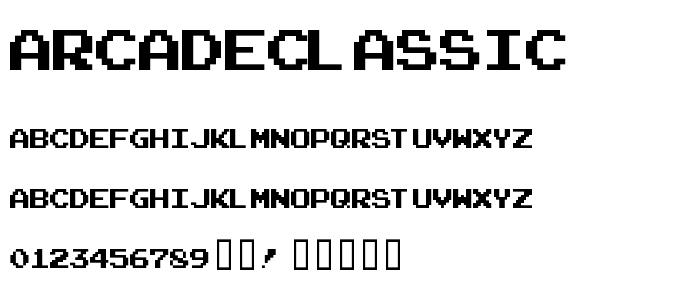 Arcadeclassic font