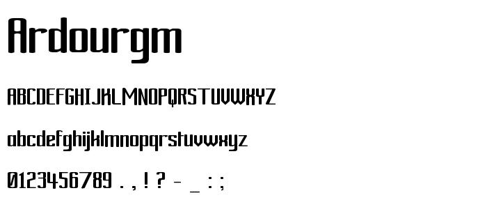 Ardourgm font