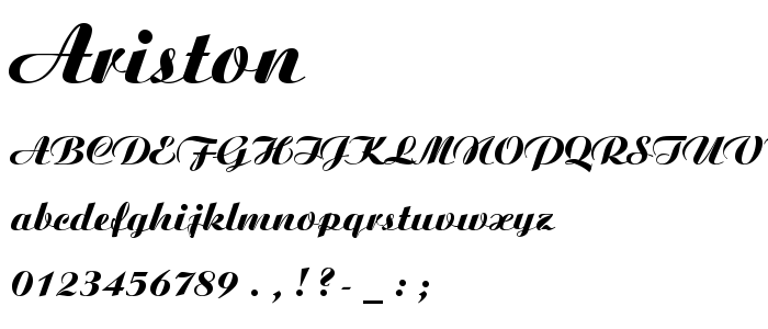 ARISTON.TTF font