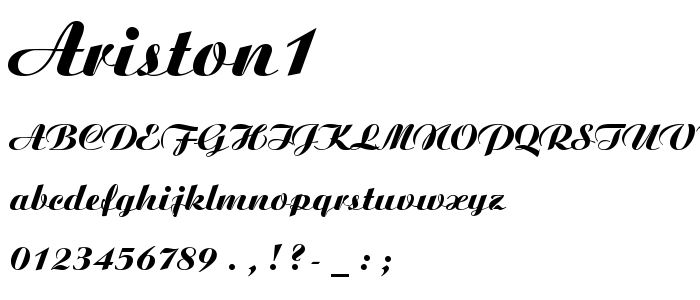 Ariston1 font