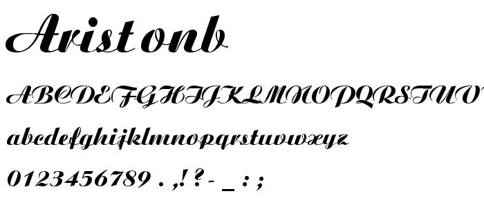 Aristonb font