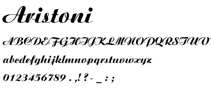 Aristoni font