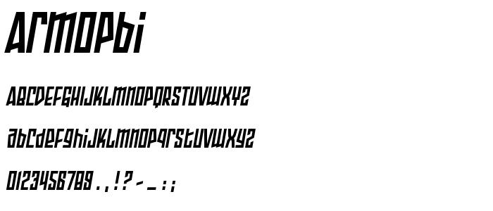Armopbi font