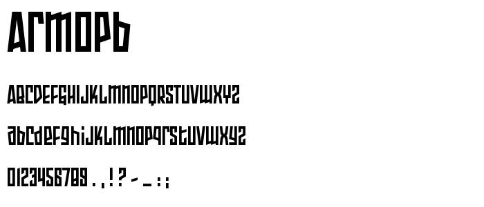 Armopb font