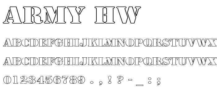 Army Hw font