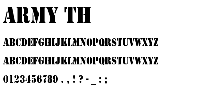 Army Th font