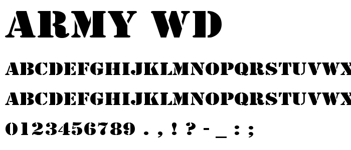 Army Wd font