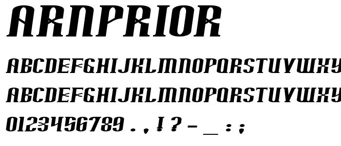 Arnprior font