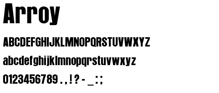 Arroy font