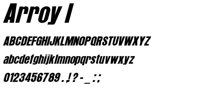 Arroy I font