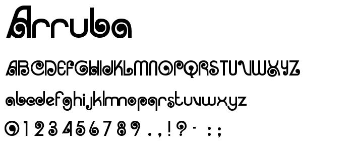 Arruba font