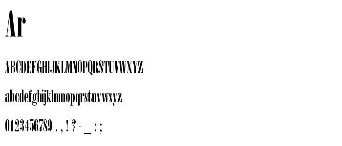 Ar font