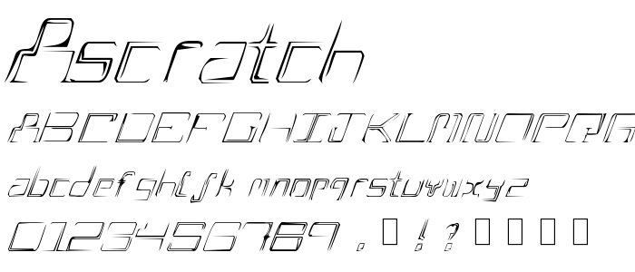 Ascratch font