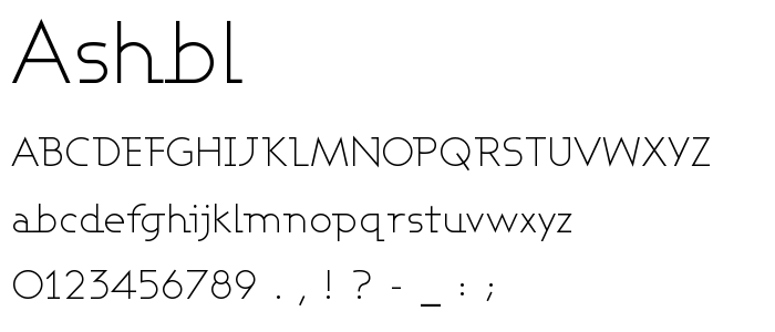Ashbl font