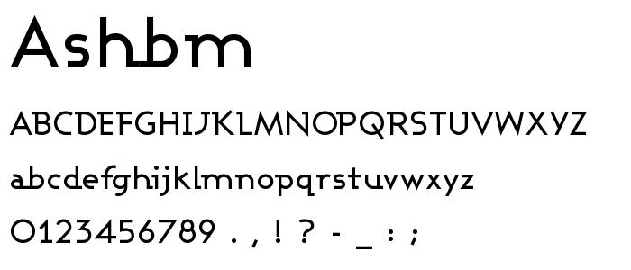 Ashbm font