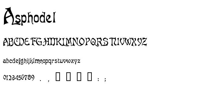 Asphodel font