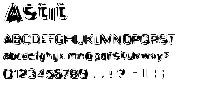 Astit font