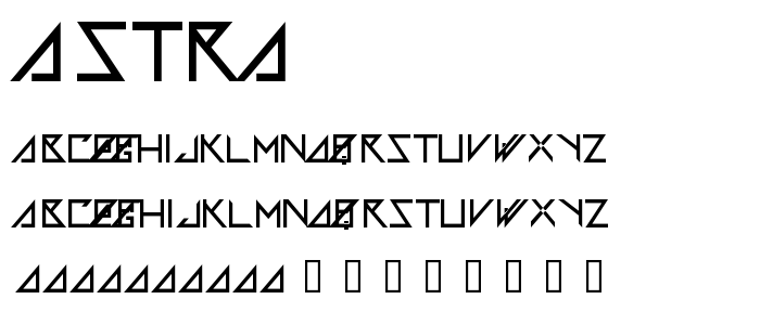 Astra font