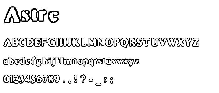 Astrc font