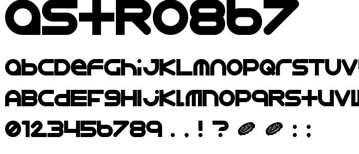Astro867 font