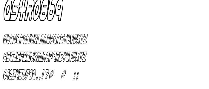 Astro869 font