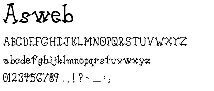Asweb font