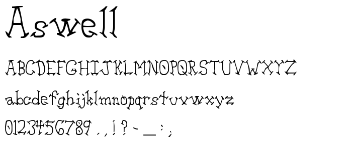 Aswell font