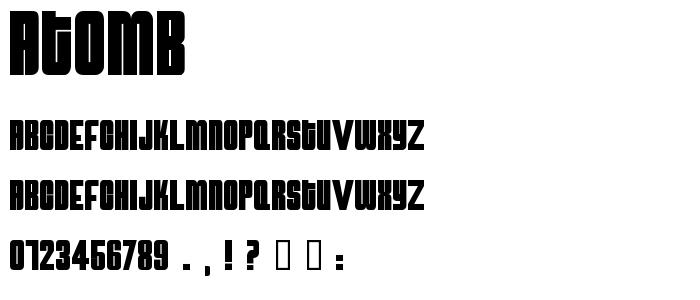 Atomb font