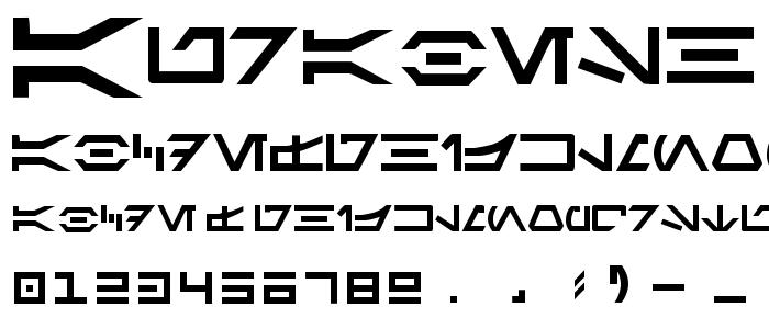 Aurabesh font