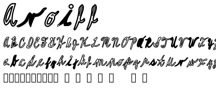 Avoill font
