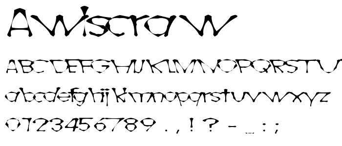 Awlscraw font