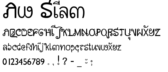 Aw Siam font